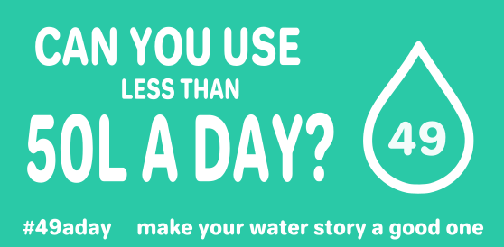 Can you use less than 50L of water a day?